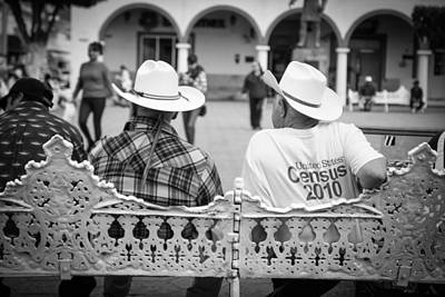 Compadres Photograph - Mexican Adults Chatting by Olga  Medrano