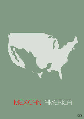 Mexican American Digital Art - Mexican America Poster by Naxart Studio