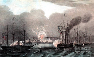 Mexican-american War, Naval Bombardment Print by Photo Researchers