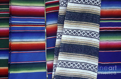 Photograph - Mexican Blankets by John  Mitchell