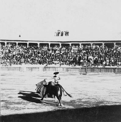 Bull Fighter Photograph - Mexican Bull Ring - C 1900 by International  Images