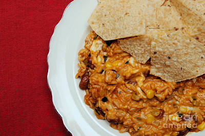 Tortillas Photograph - Mexican Dip And Chips by Andee Design