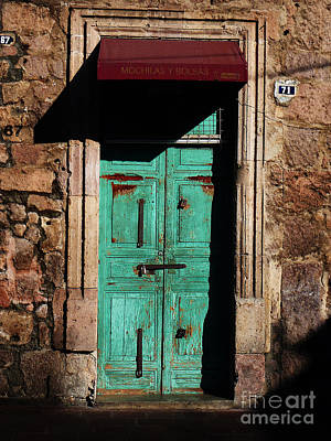 Photograph - Mexican Door 23 by Xueling Zou