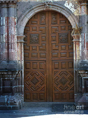Photograph - Mexican Door 24 by Xueling Zou