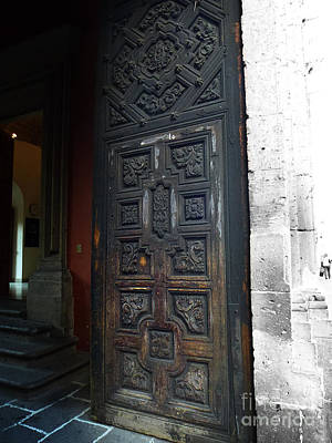 Photograph - Mexican Door 30 by Xueling Zou