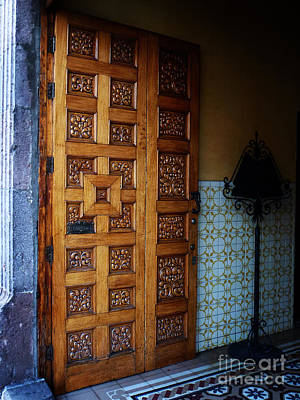 Photograph - Mexican Door 40 by Xueling Zou