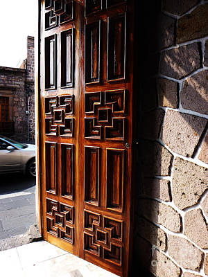Photograph - Mexican Door 42 by Xueling Zou