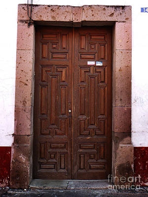 Photograph - Mexican Door 45 by Xueling Zou