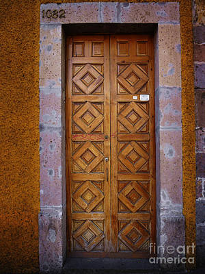 Photograph - Mexican Door 48 by Xueling Zou
