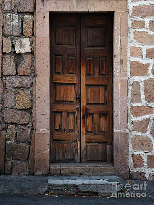 Photograph - Mexican Door 50 by Xueling Zou