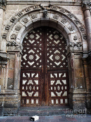 Photograph - Mexican Door 53 by Xueling Zou