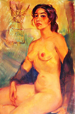 Mexican Indian Nude Beauty Print by Bill Joseph  Markowski