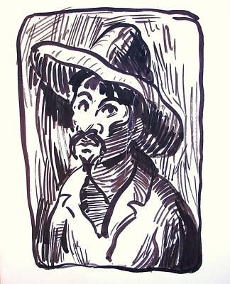Mexican Man With Hat Art Print by Bill Joseph  Markowski
