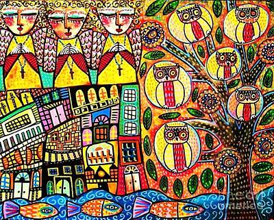 Mexican Seaside Village Art Print