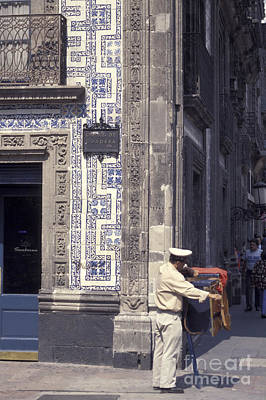 Photograph - Mexico City Organ Grinder by John  Mitchell