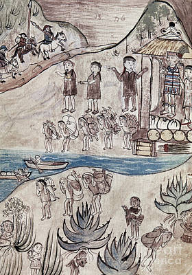 Mesoamerican Painting - Mexico Indians C1500 by Granger