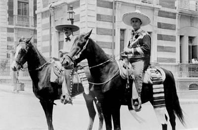 Charro Photograph - Mexico, Men Wearing Charro Costumes by Everett