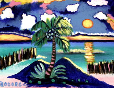 Painting - Mexico Sunset by Ted Hebbler