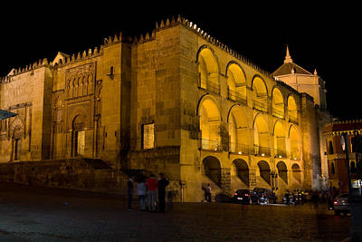 Mezquita At Night In Cordoba Art Print