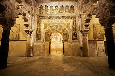 Mezquita Photograph - Mezquita Mihrab In Cordoba by Artur Bogacki