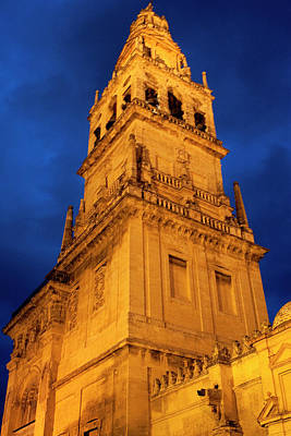 Print featuring the photograph Mezquita Tower by Lorraine Devon Wilke