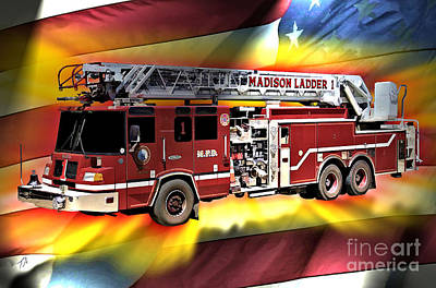 Mfd Ladder Co 1 Art Print by Tommy Anderson