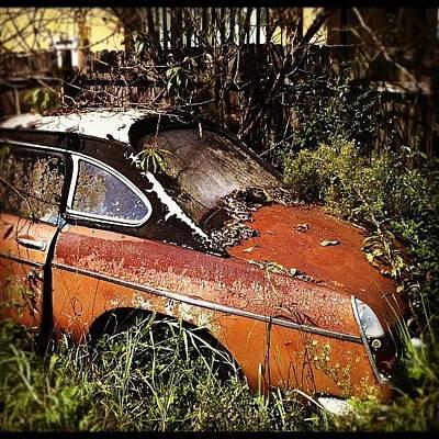 Rust Wall Art - Photograph - Mg Car by Brent McGilvary
