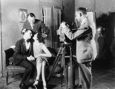 Behind The Scenes Photograph - Mgm Director Edmund Goulding Back Left by Everett