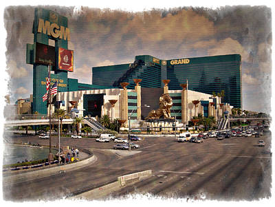 Photograph - Mgm Grand - Impressions by Ricky Barnard