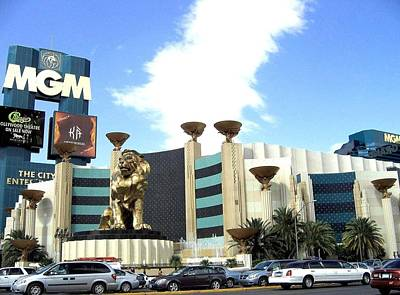 Photograph - Mgm In Las Vegas by Will Borden