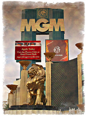 Photograph - Mgm Marquee - Impressions by Ricky Barnard