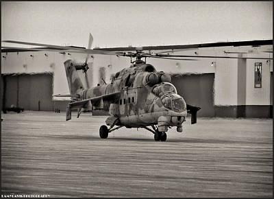 Whiteman Photograph - Mi-24 Hind D  by Lamyl Hammoudi
