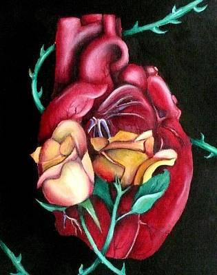 Mi Corazon Art Print by E White