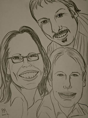 Caricature Drawing - Mi Familia by Pete Maier