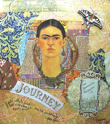 Kahlo Mixed Media - Mi Hermana Hermosa by Kanchan Mahon