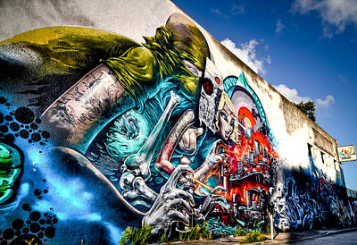 Graffitti Photograph - Miami Art In Wynwood District by Andres Leon