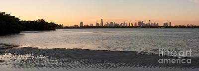 Miami At Low Tide Art Print by Matt Tilghman