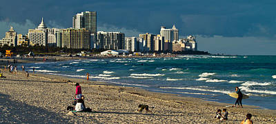 Photograph - Miami Beach Afternoon Skyline  by Andres Leon