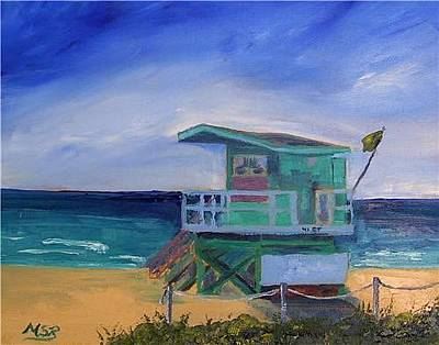 Painting - Miami Beach Lifeguard Shack 41 St. by Maria Soto Robbins