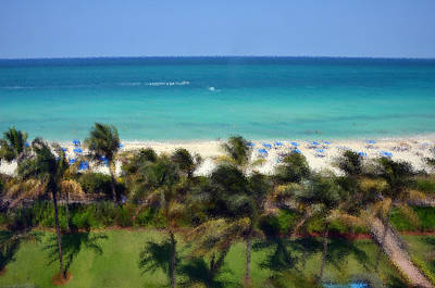 Art Print featuring the photograph Miami Beach by Pravine Chester