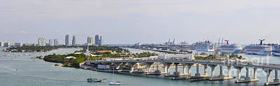 Miami Port Panorama Original by Dejan Jovanovic
