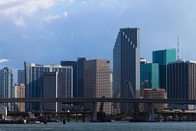 Photograph - Miami Skyline by Ed Gleichman
