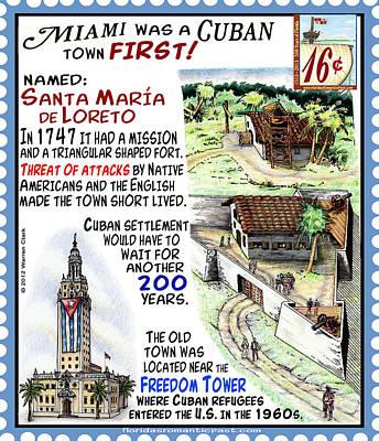 Cuban Mixed Media - Miami Was A Cuban Town First by Warren Clark