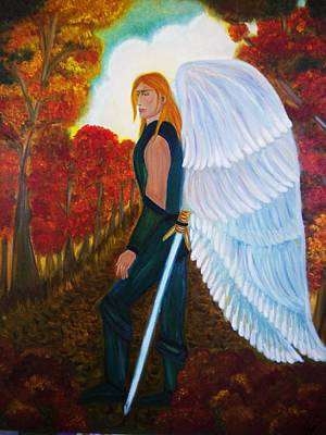 Painting - Michael - Michael Archangel Series By Yesi Casanova by Yesi Casanova