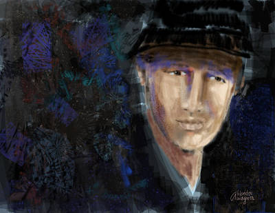 Male Portraits Digital Art - Michael by Arline Wagner