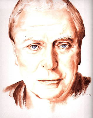 Caine Painting - Michael Caine by Karl Opanowicz