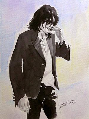Michael Jackson - A Shy Man Art Print by Hitomi Osanai