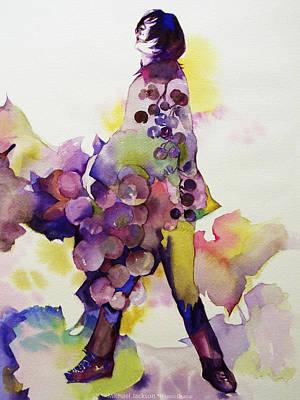 Michael Jackson - Harvest Art Print by Hitomi Osanai