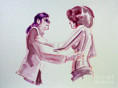 Michael Jackson - Just Can't Stop Loving You Print by Hitomi Osanai