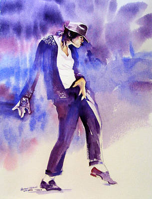 Michael Jackson Painting - Michael Jackson - Not My Lover by Hitomi Osanai